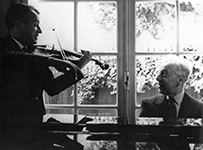 With Arthur Rubinstein - Paris – 1959