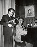 With Arthur Rubinstein - Hollywood – 1950